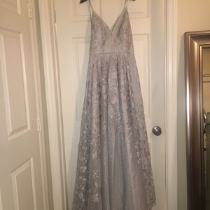 Silver Nicole Miller Gown